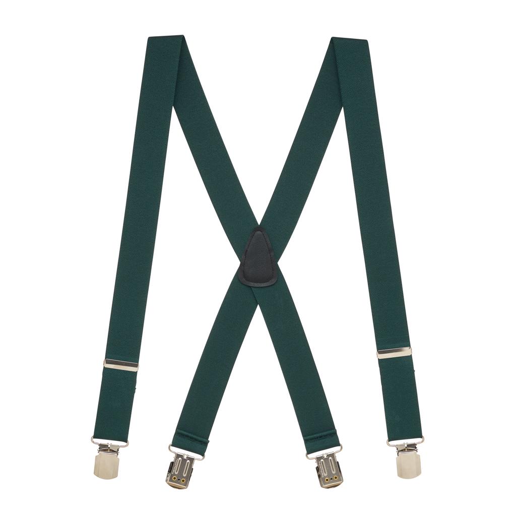 1.5 Inch Wide Suspenders in Hunter - Full View