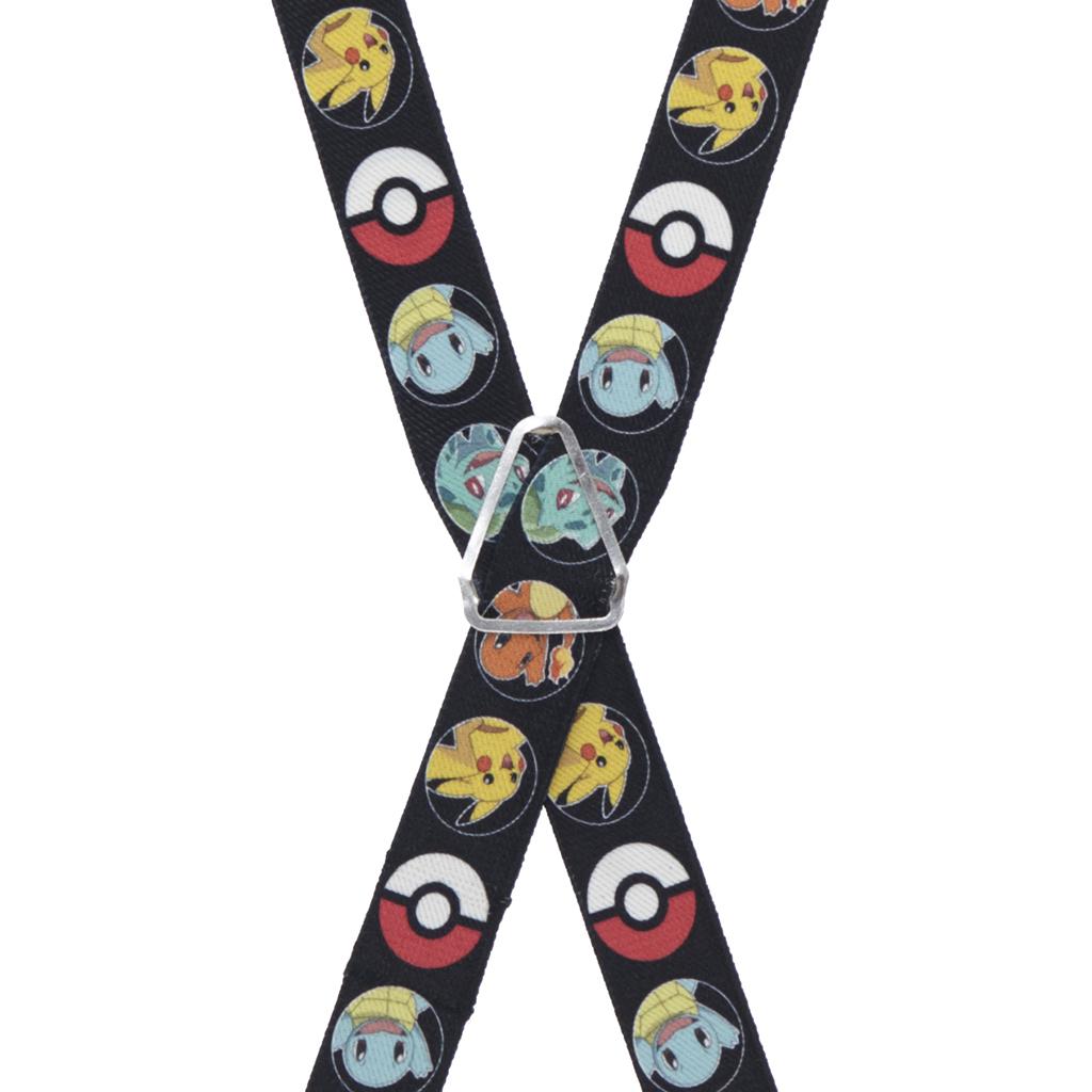 Pokemon Suspenders - Rear View