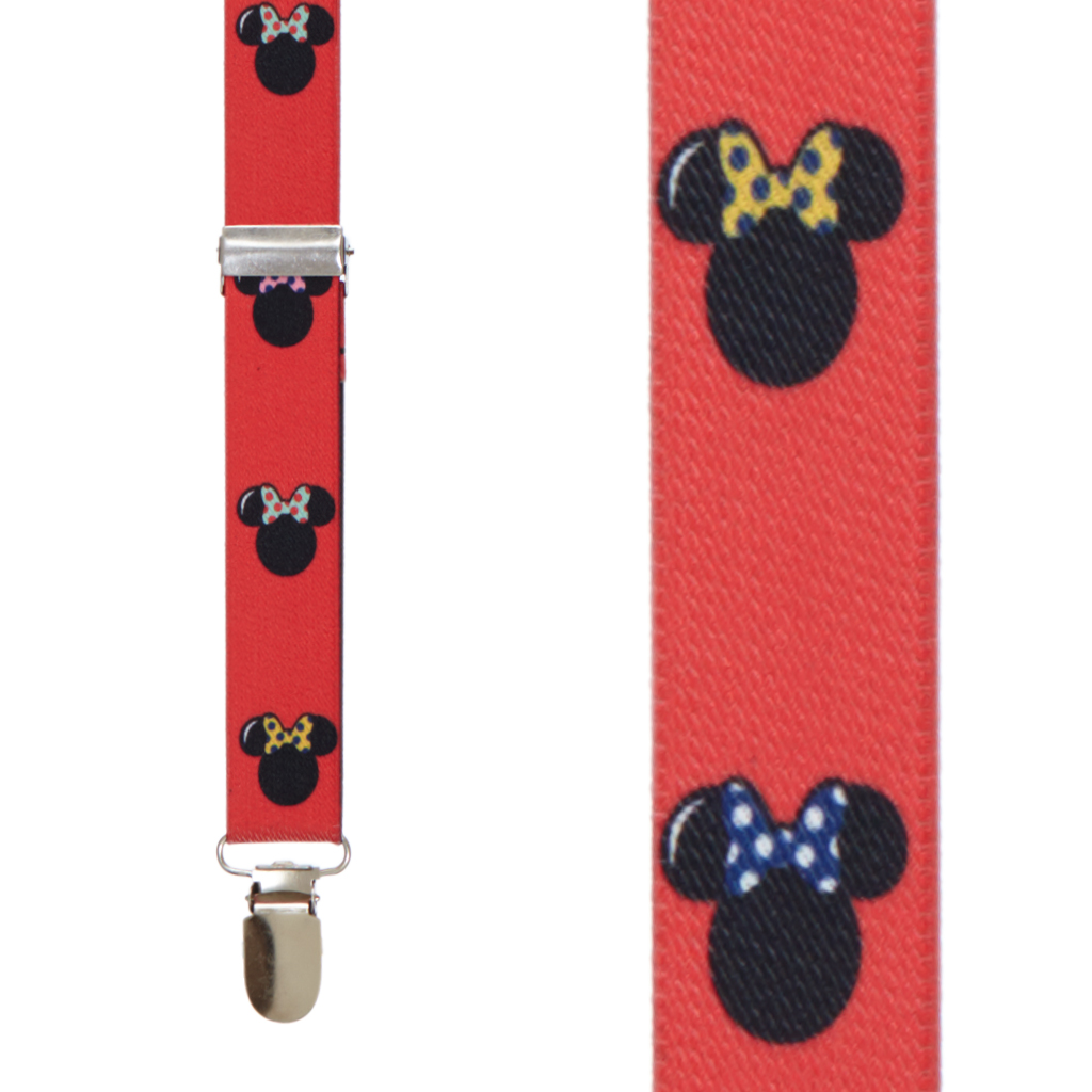 Minnie Mouse Suspenders - Front View