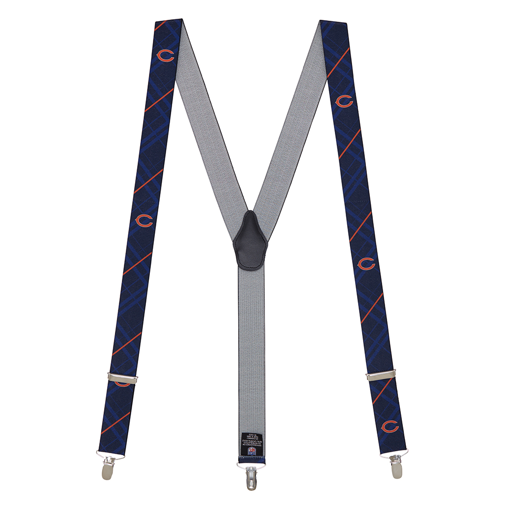 Chicago Bears Suspenders - Full View