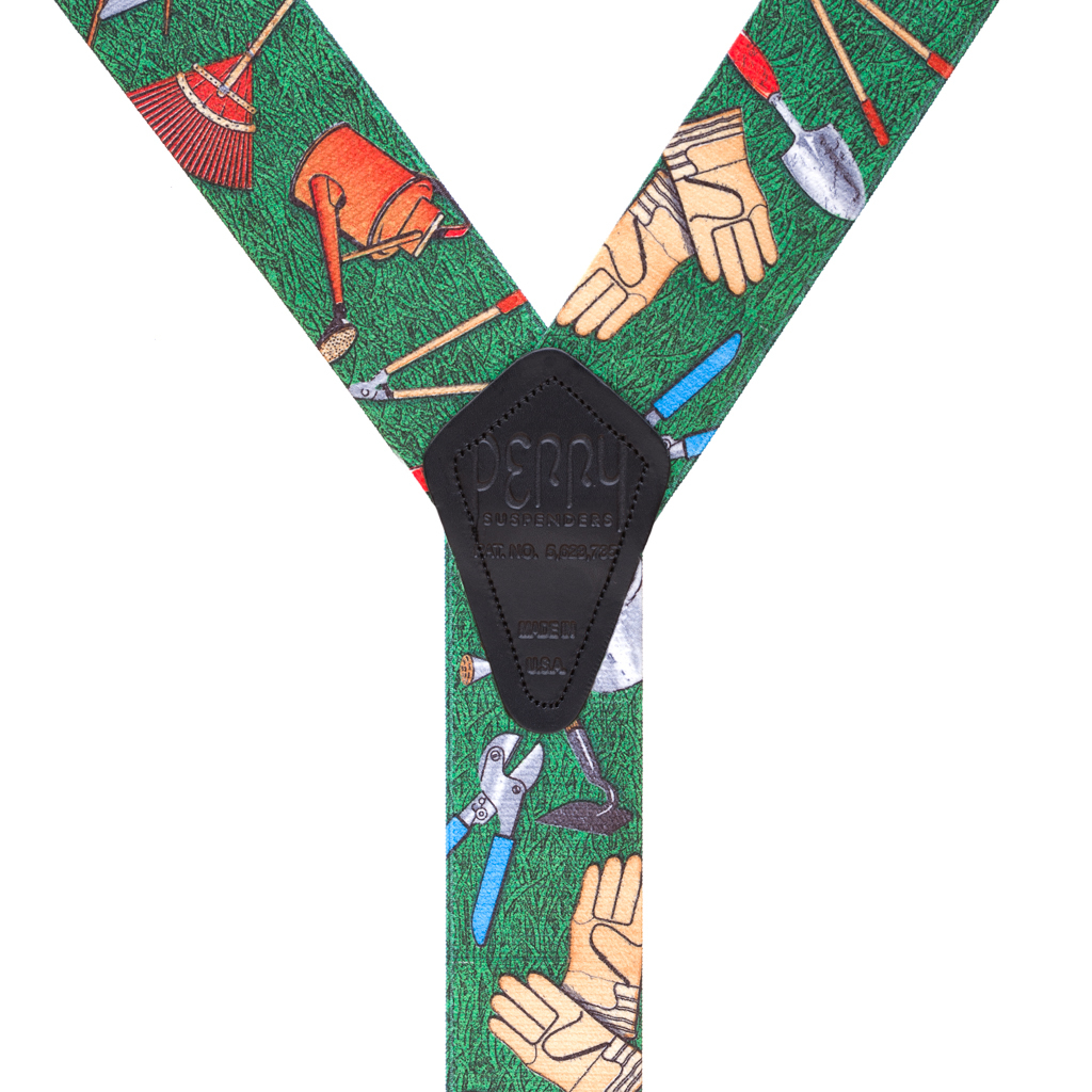 Perry Suspenders - Rear View - Novelty Gardener