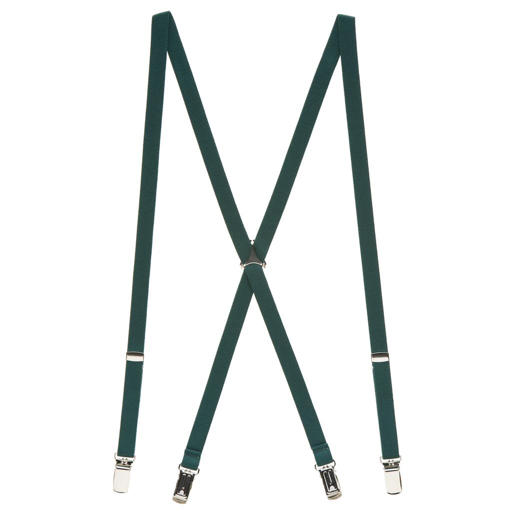 Skinny Suspenders in Hunter - Full View