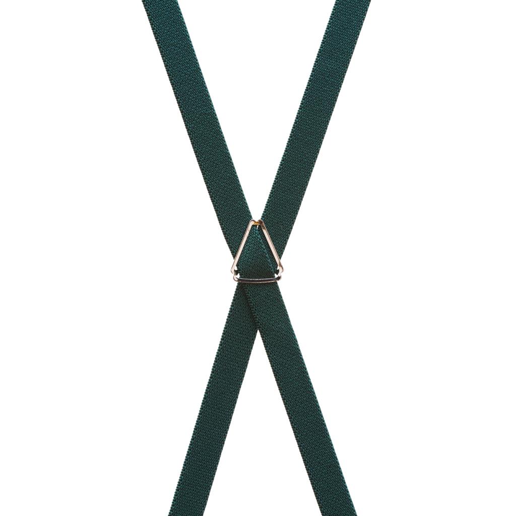 Skinny Suspenders in Hunter - Rear View