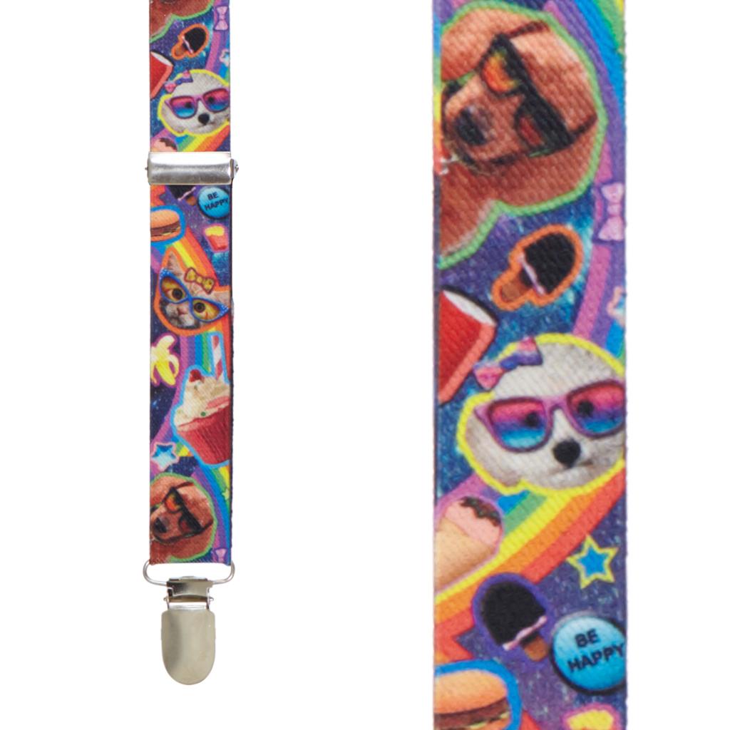 Pets & Snacks Suspenders - Front View