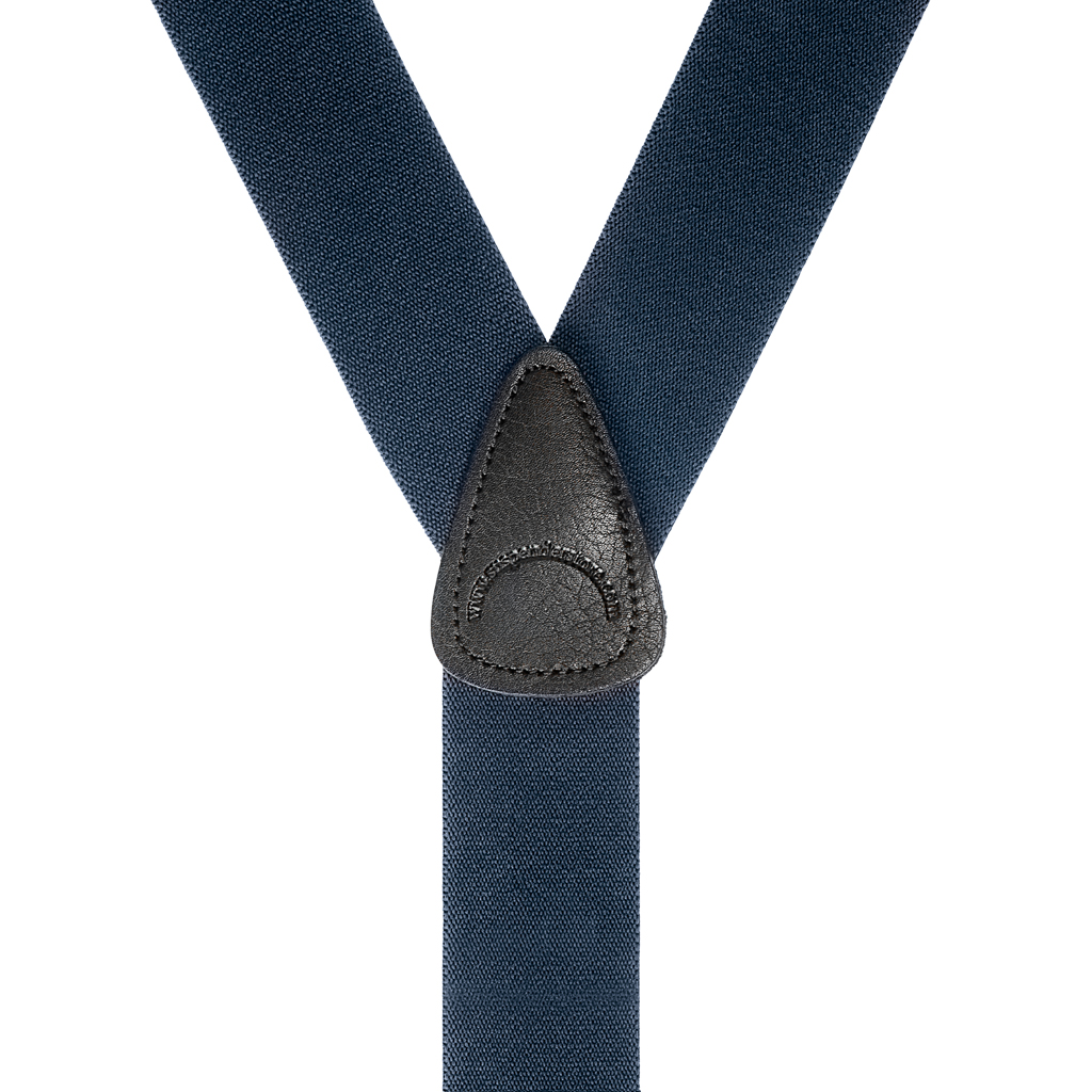 Khaki Burgundy or Navy blue Button-on Braces one choice 35mm Wide Leather end