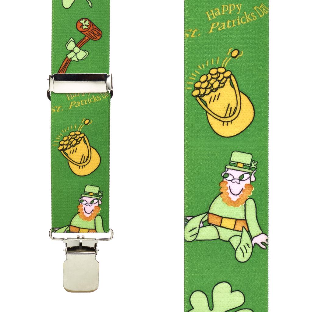 Leprechaun Suspenders - Front View