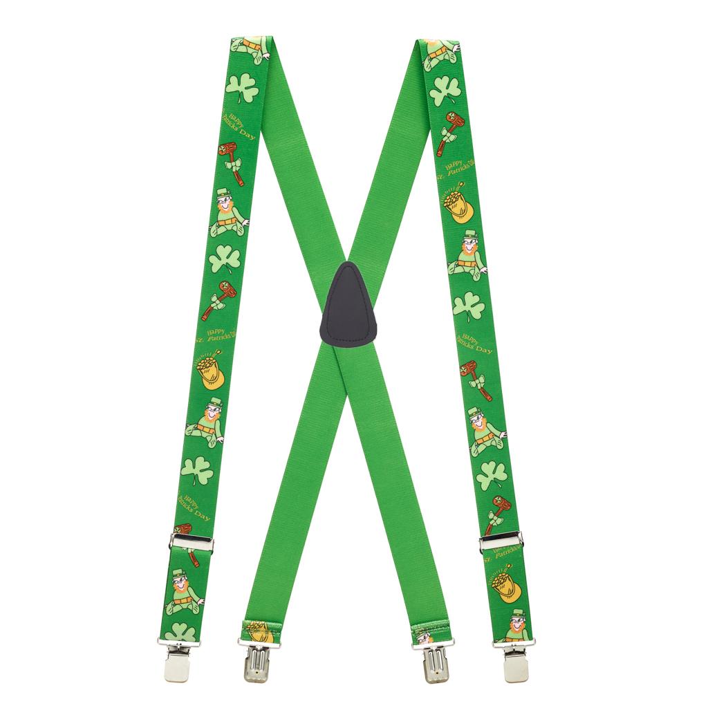 Leprechaun Suspenders - Full View