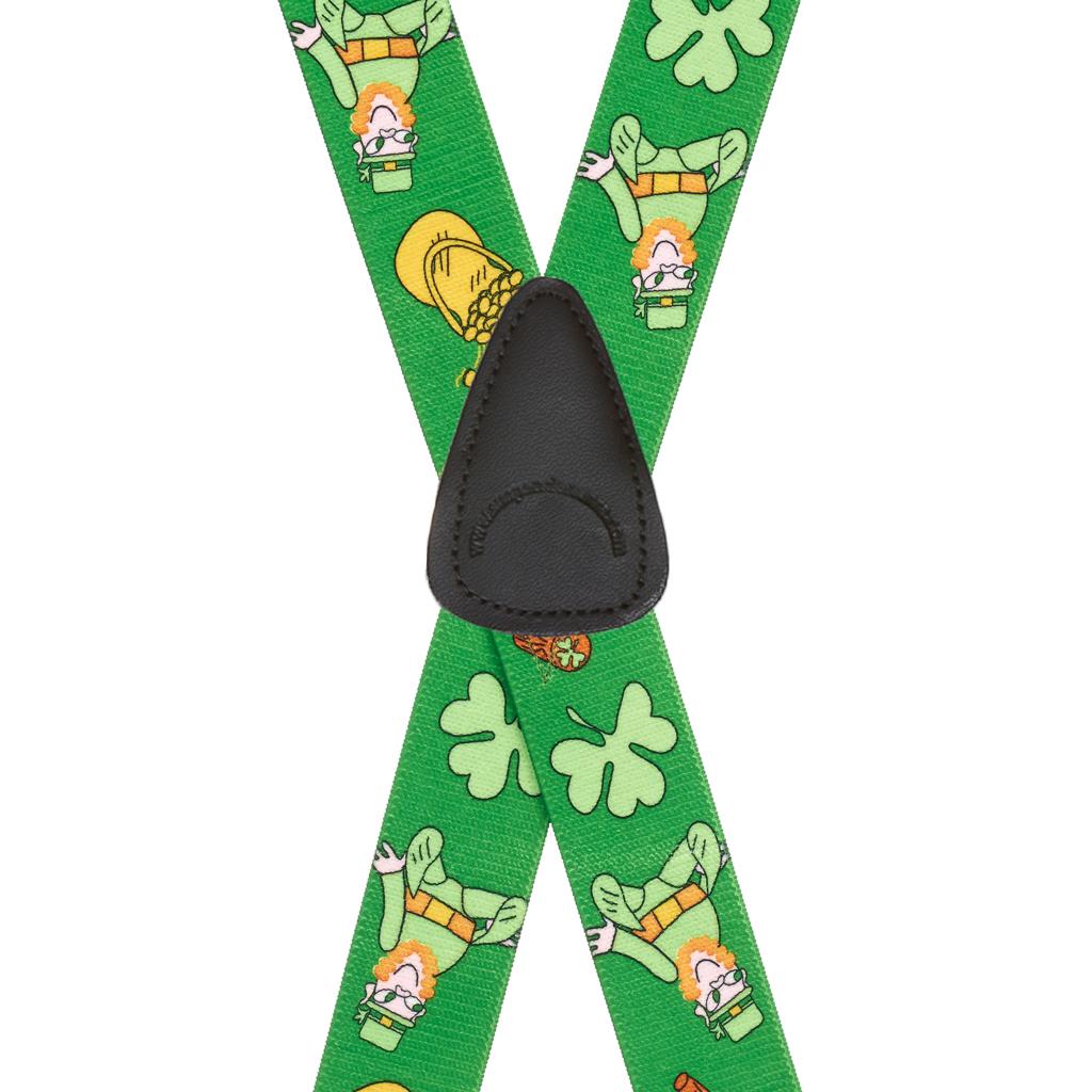 Leprechaun Suspenders - Rear View
