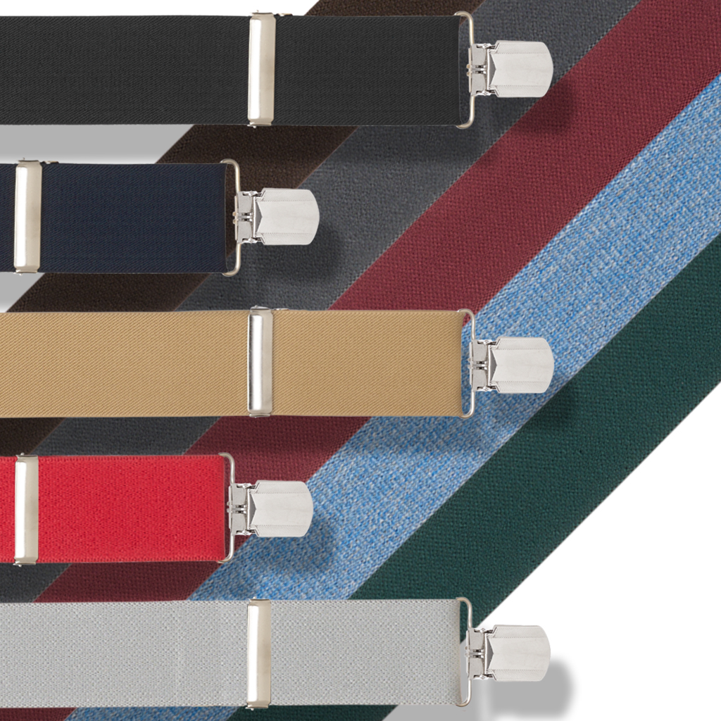 Big & Tall 2-Inch Pin Clip Suspenders - All Colors