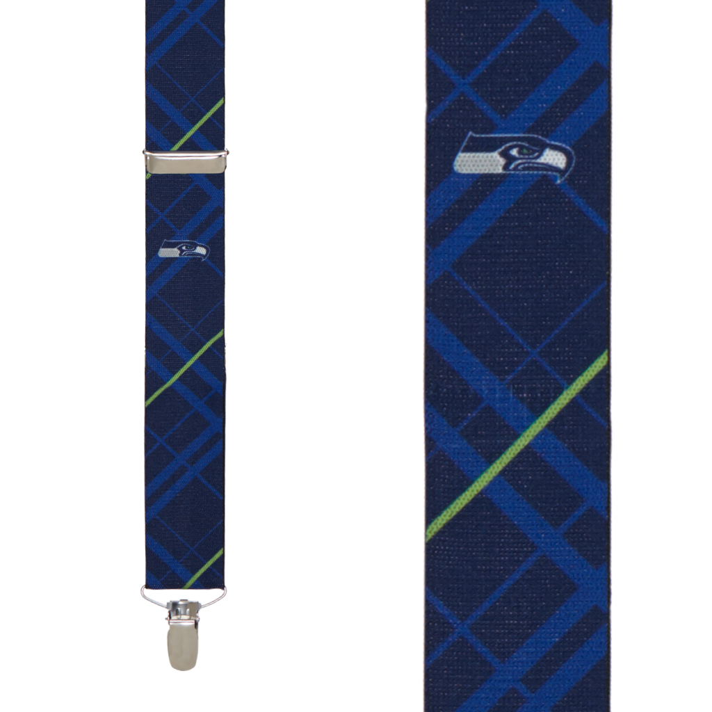 Seattle Seahawks Suspenders - Front View