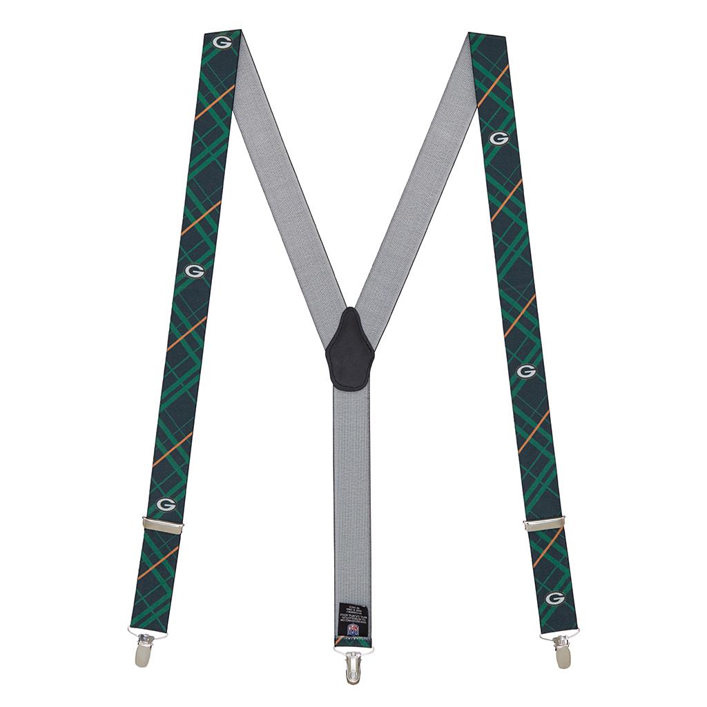 NFL Packers Suspenders - Full View