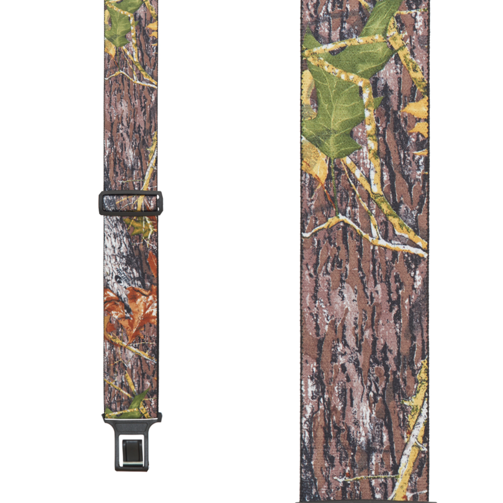 Perry Suspenders - Front View - Mossy Oak Camo