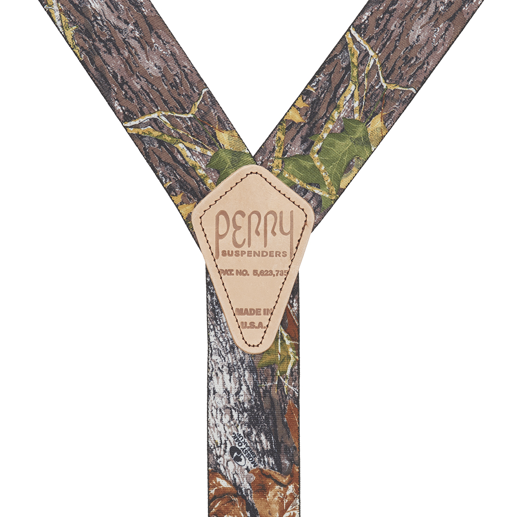 Perry Suspenders - Rear View - Mossy Oak Camo
