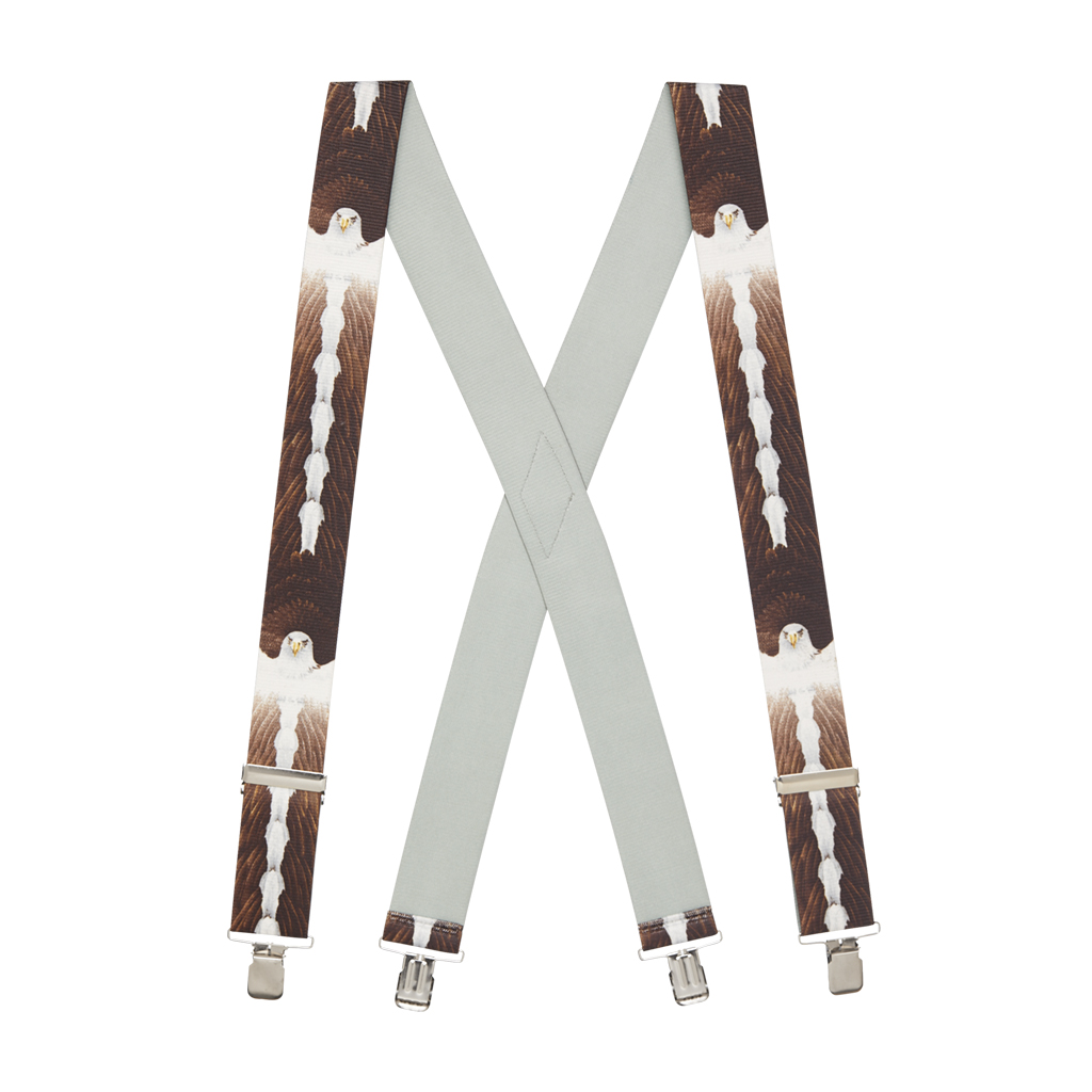 Eagle Suspenders - 2-Inch Wide, Clip Full View