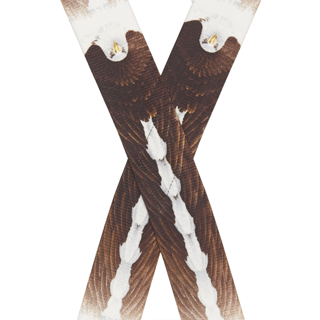 Eagle Suspenders - 2-Inch Wide, Clip Rear View