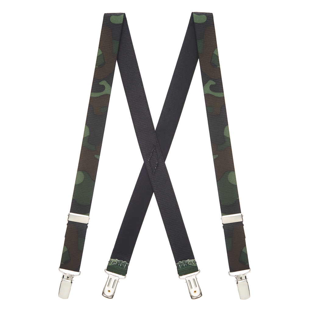 Camouflage Suspenders for Kids - Full View