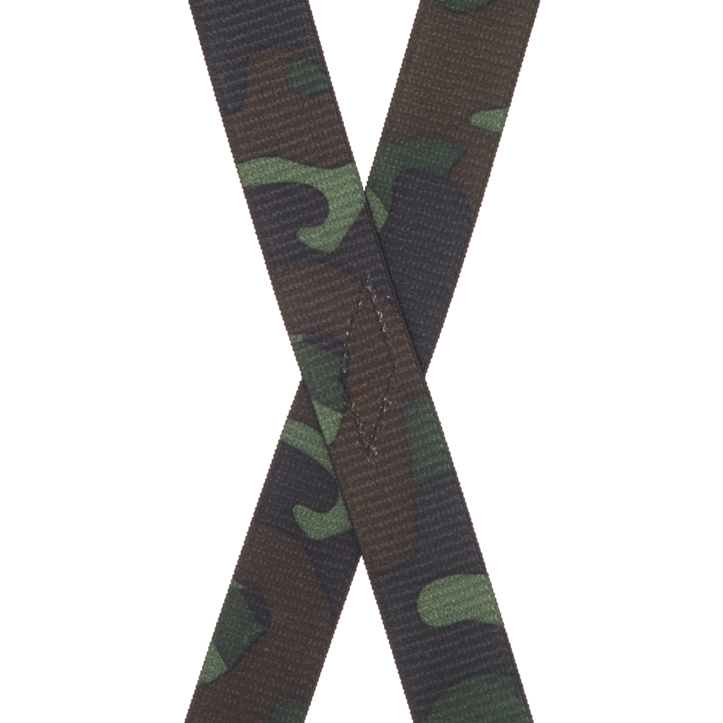 Camouflage Suspenders for Kids - Rear View