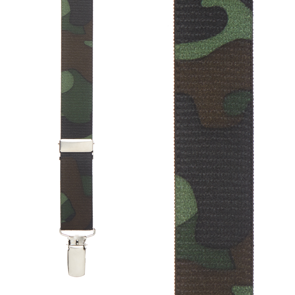 Camouflage Suspenders for Kids - Front View