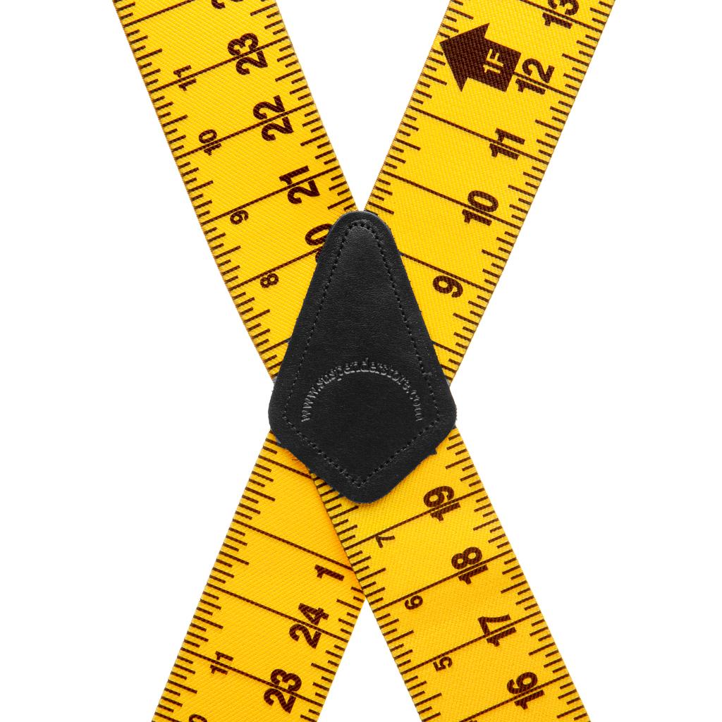 Tape Measure Suspenders Rear View