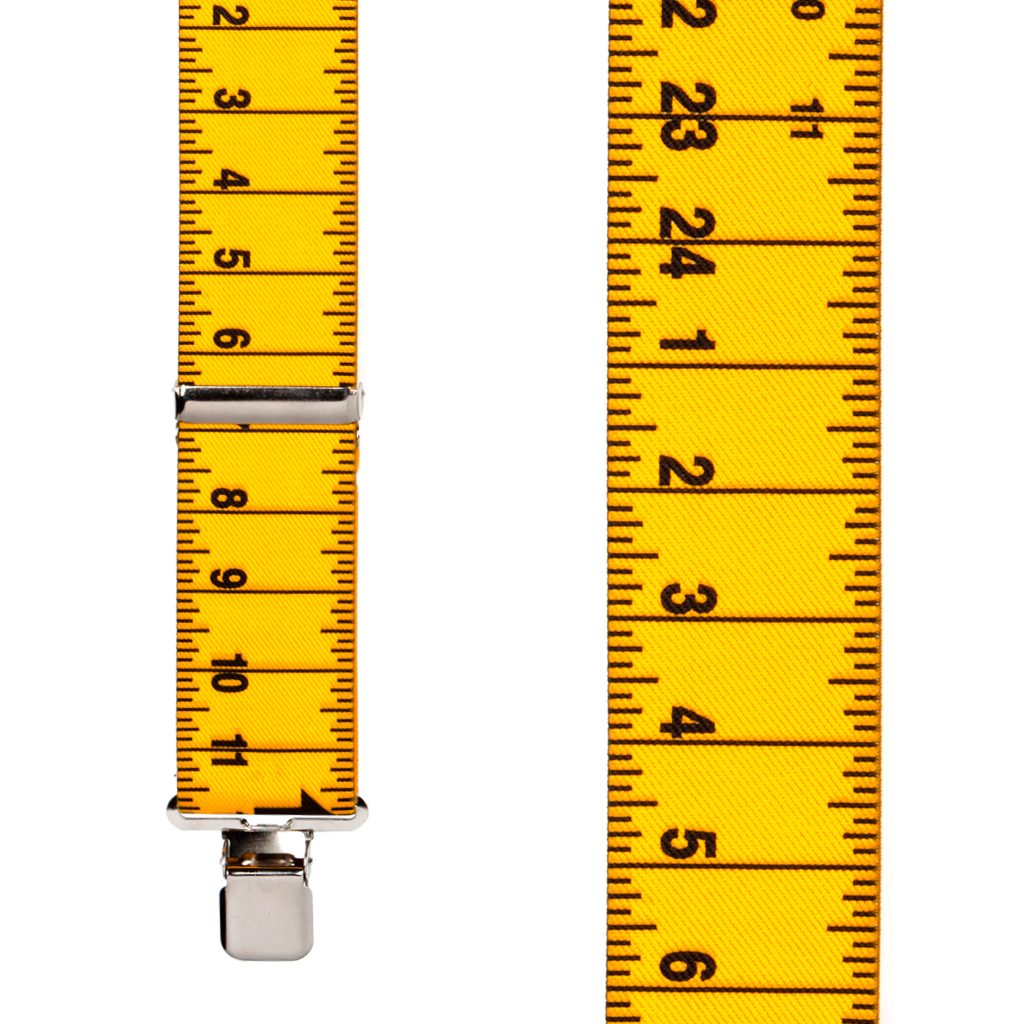 Tape Measure Suspenders Front View