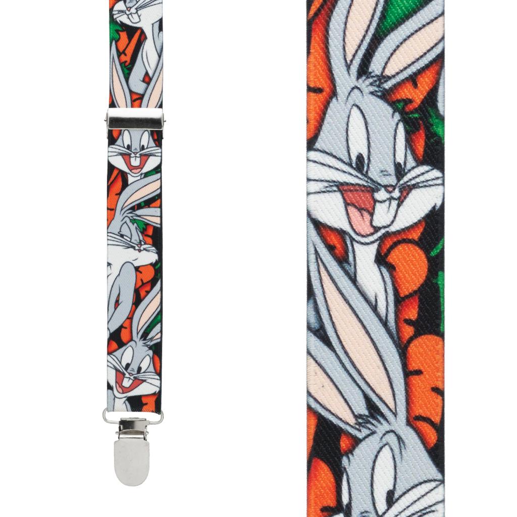 Bugs Bunny Suspenders - Front View