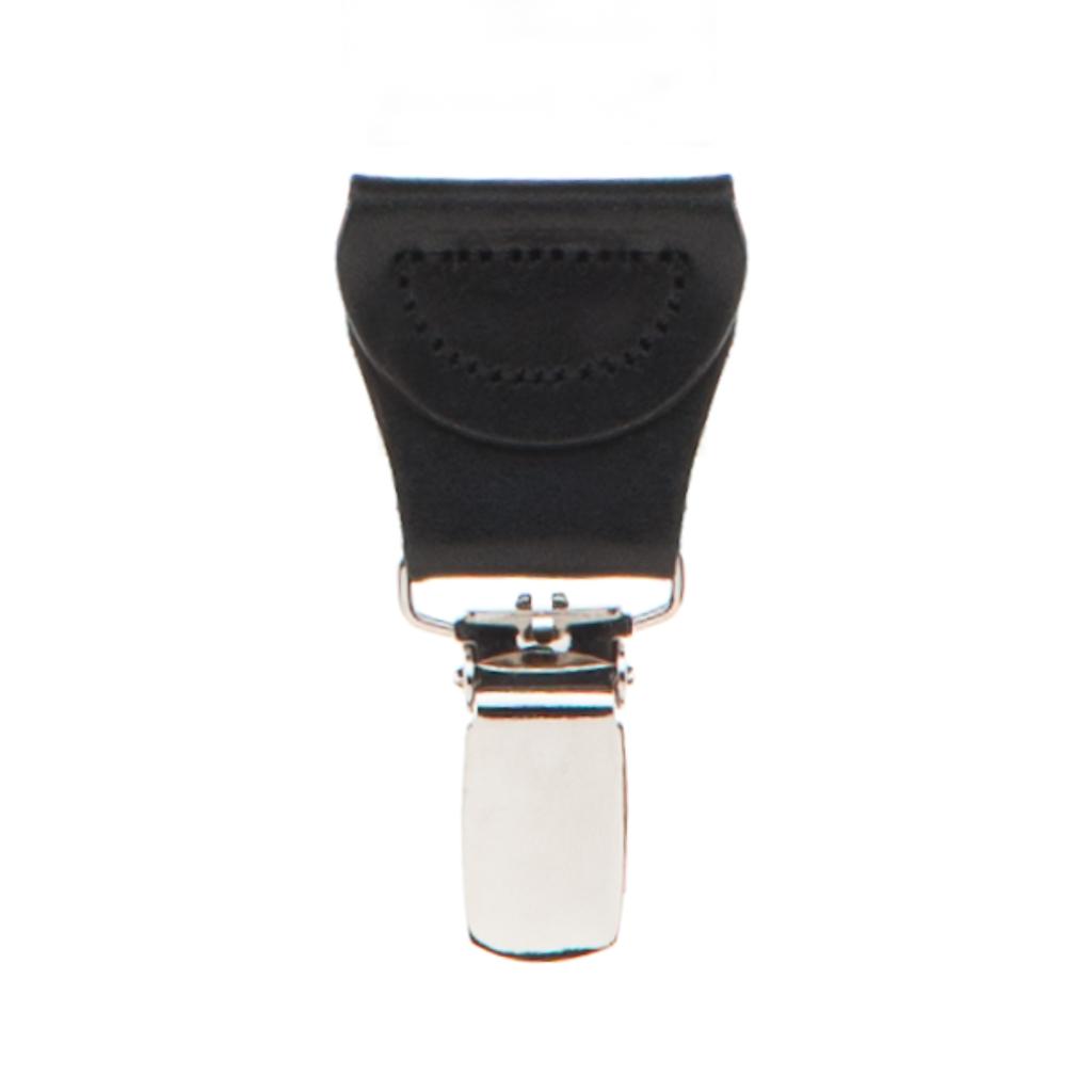 Grey Jacquard  Suspenders - Petite Diamond Clip Detailed View