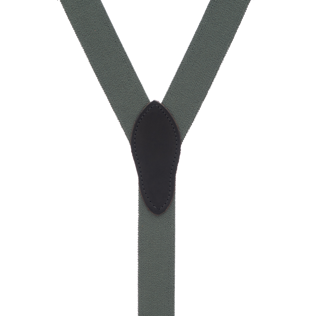 Rugged Comfort Suspenders in Cactus Green - Rear View