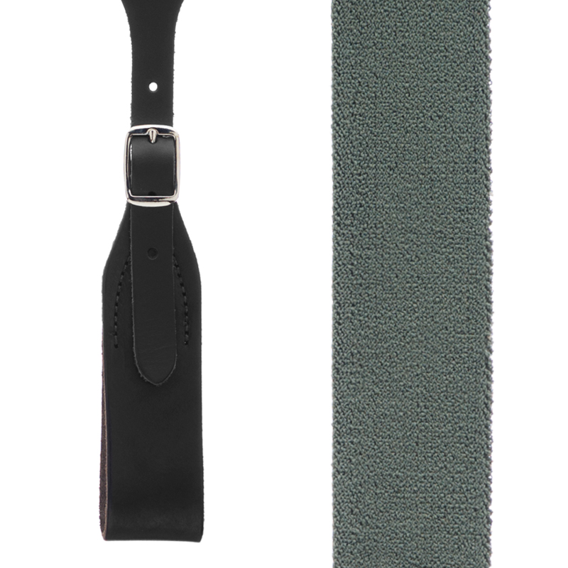 Rugged Comfort Suspenders in Cactus Green - Front View