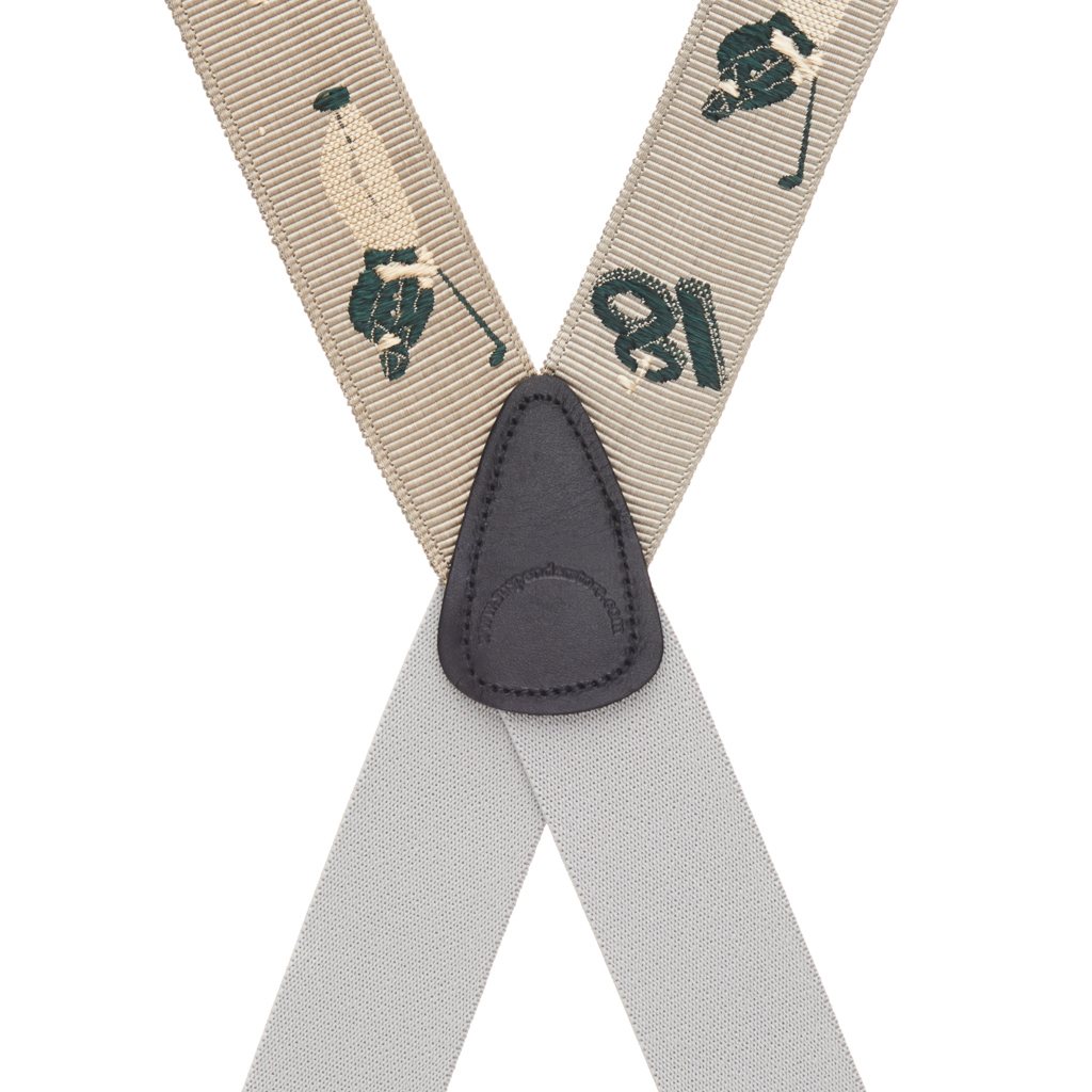 Grosgrain Clip Suspenders - Golfer Rear View