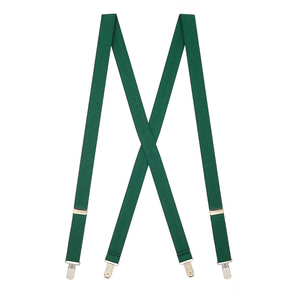 Pin Clip Suspenders in Hunter - Full View