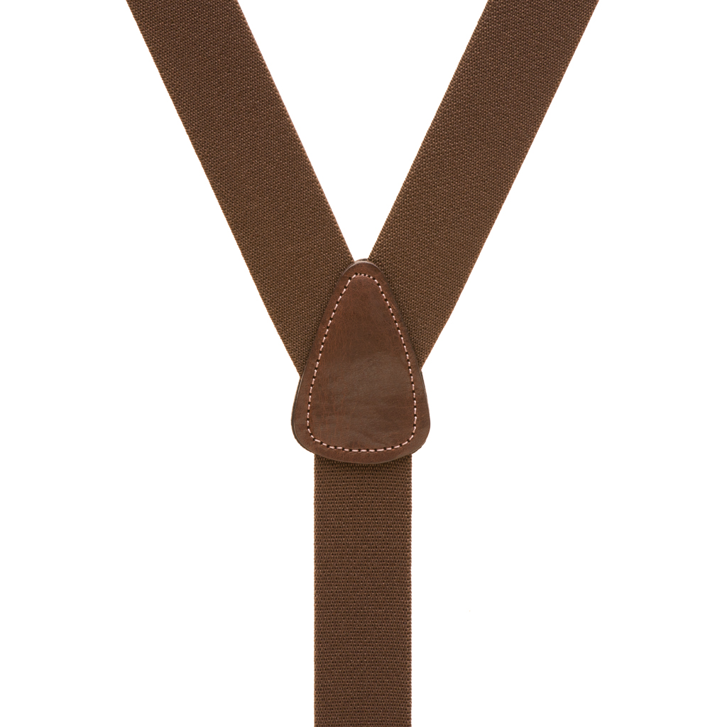 Pin Clip Suspenders in Brown - Rear View