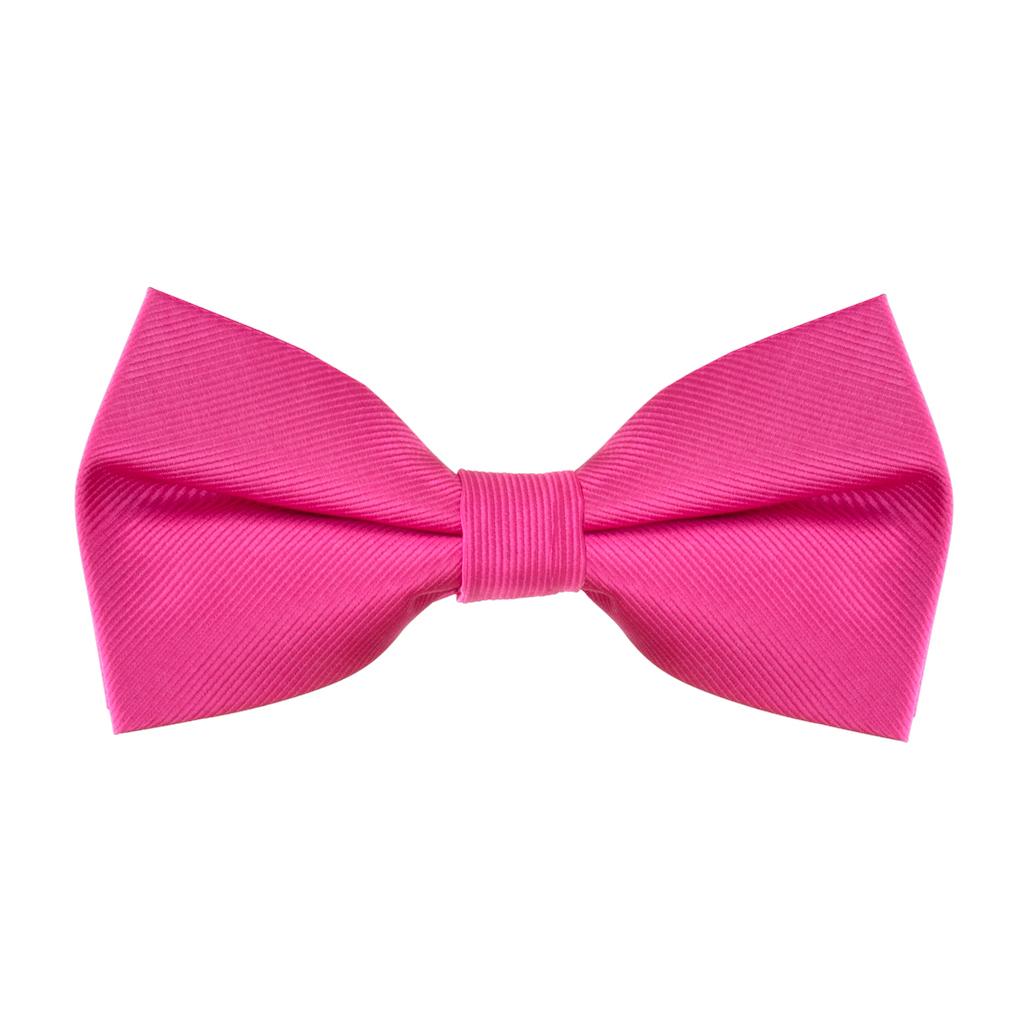 Fuchsia Twill Bow Tie
