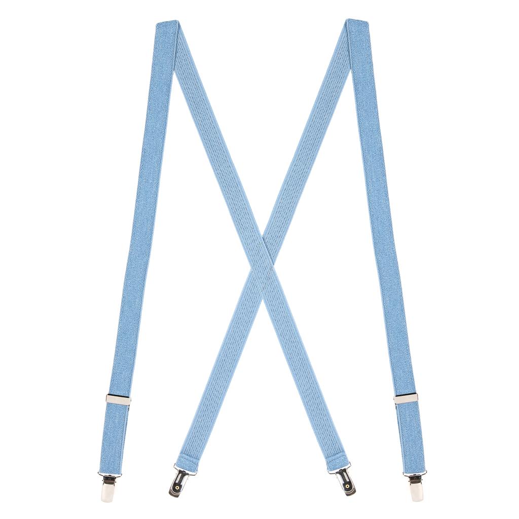 DENIM 1-Inch Small Pin Clip Suspenders