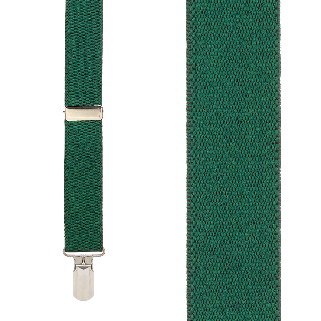 1-Inch Wide Suspenders in Hunter - Front View