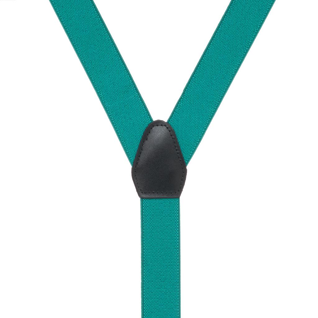 Suspenders in Teal - Rear View