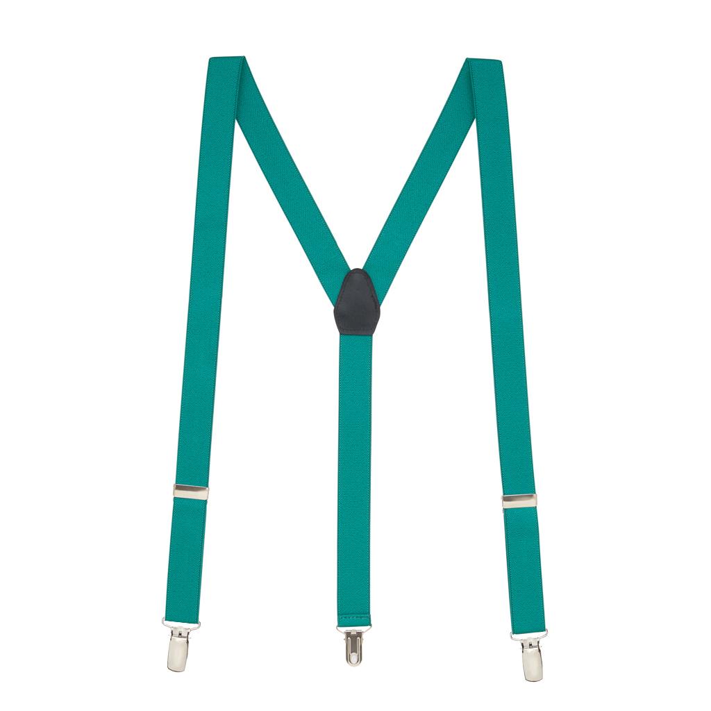 Suspenders in Teal - Full View
