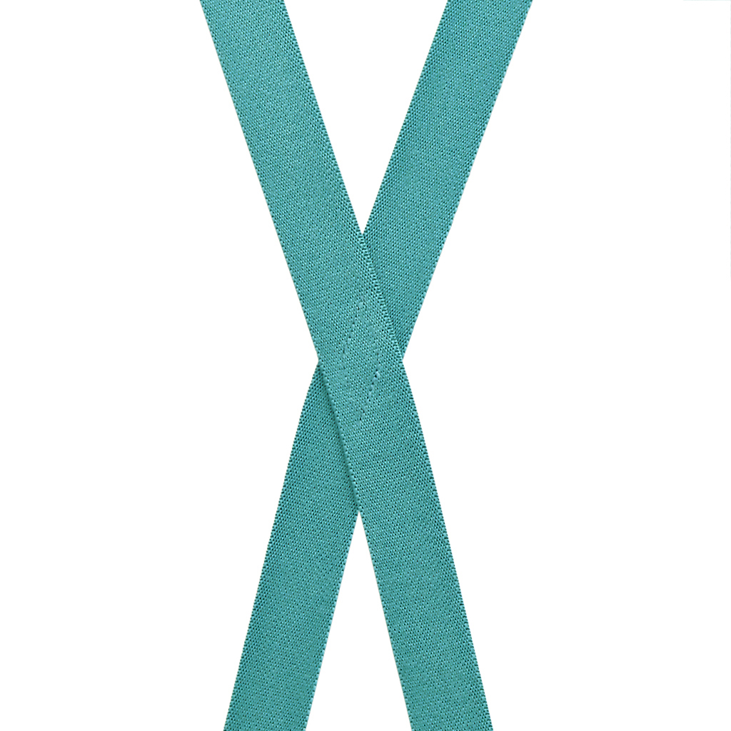 1-Inch Wide Suspenders in Teal - Rear View