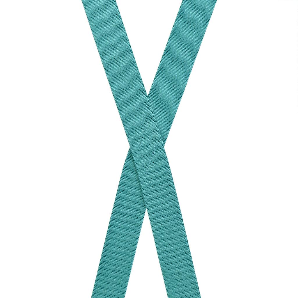 1-Inch Wide Suspenders in Teal - Rear View