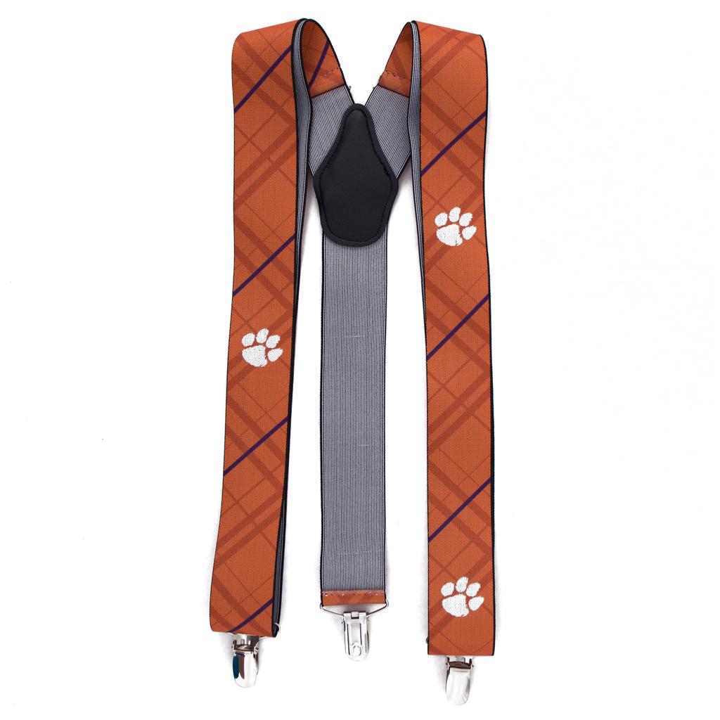 Clemson Tiger Suspenders - Full View