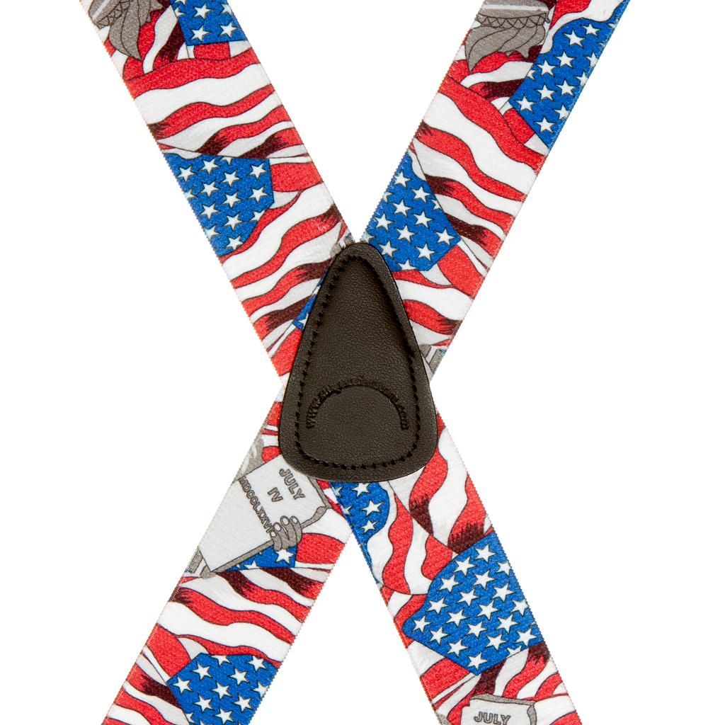 American Liberty Suspenders - 1.5 Inch Wide - Rear View - SALE
