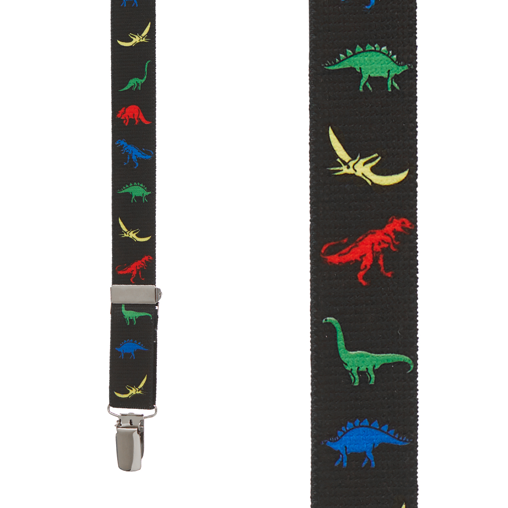 Dinosaur Suspenders - Front View