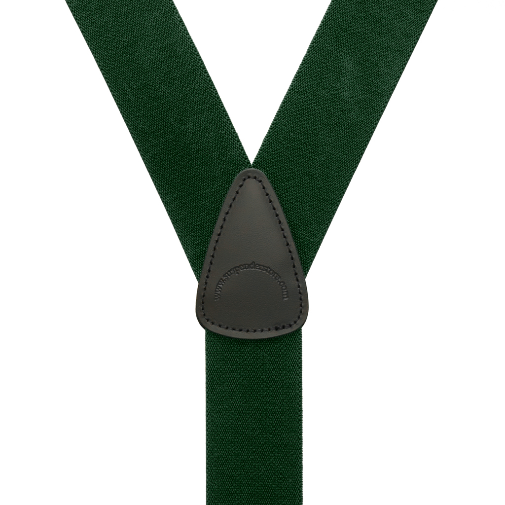 1.5 Inch Wide Suspenders in Hunter - Rear View