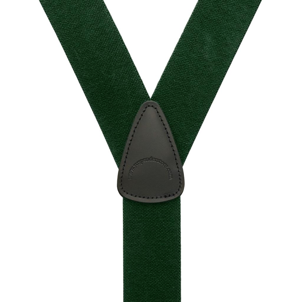 1.5 Inch Wide Suspenders in Hunter - Rear View