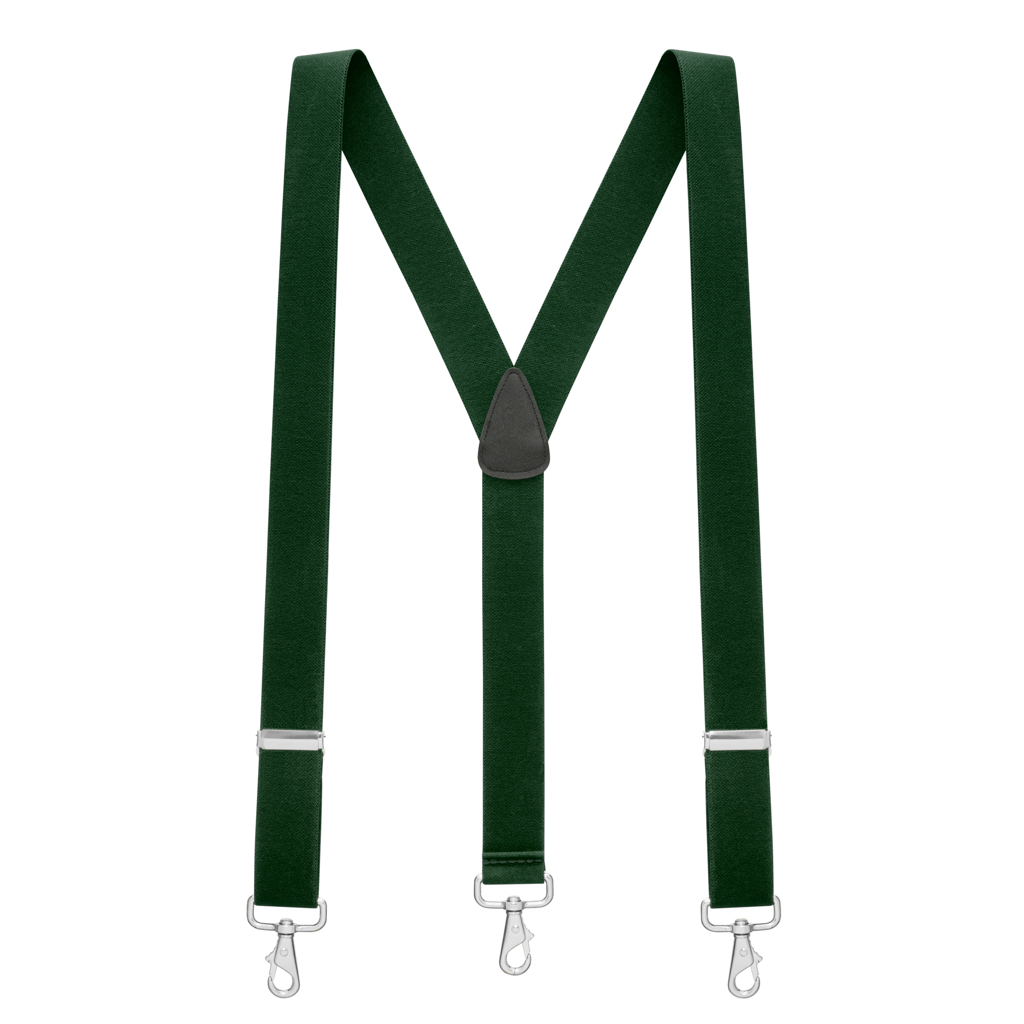 1.5 Inch Wide Suspenders in Hunter - Full View