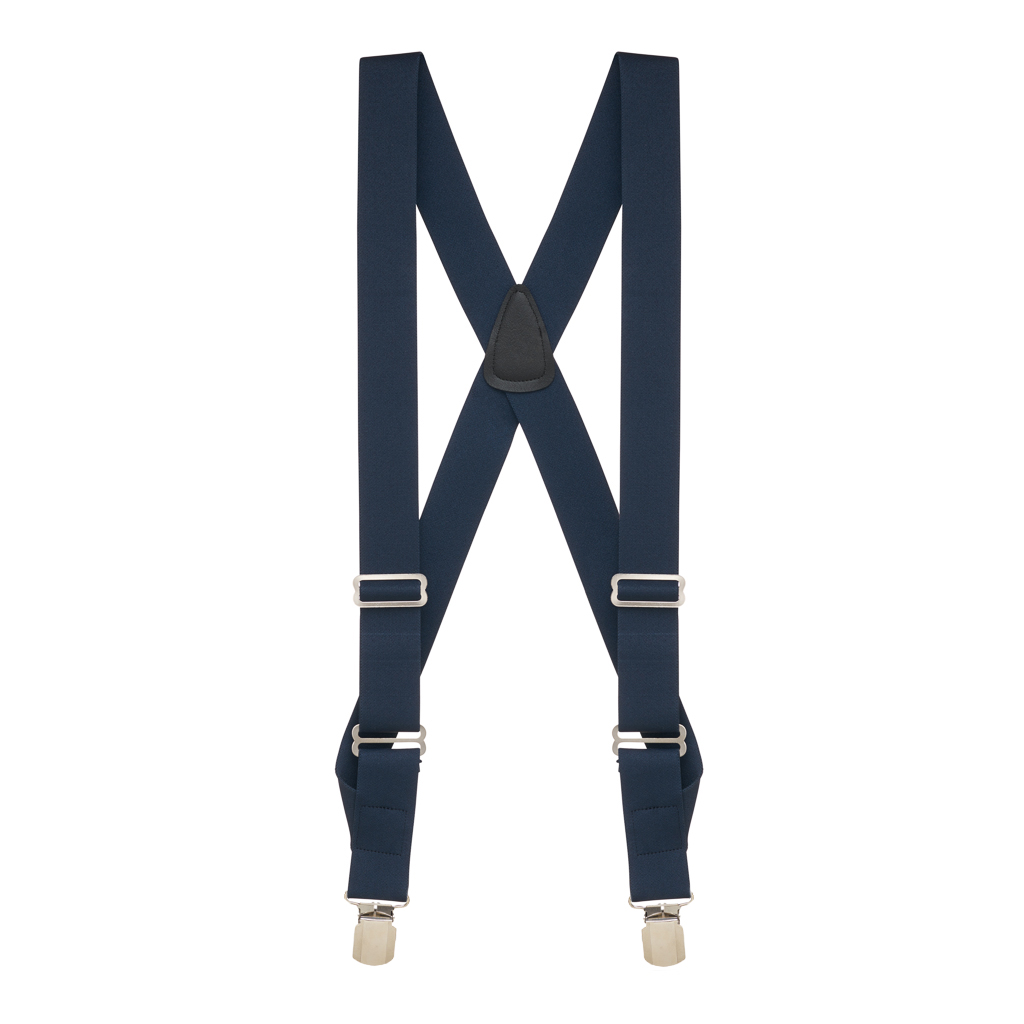 Side Clip Suspenders in Navy - Full View