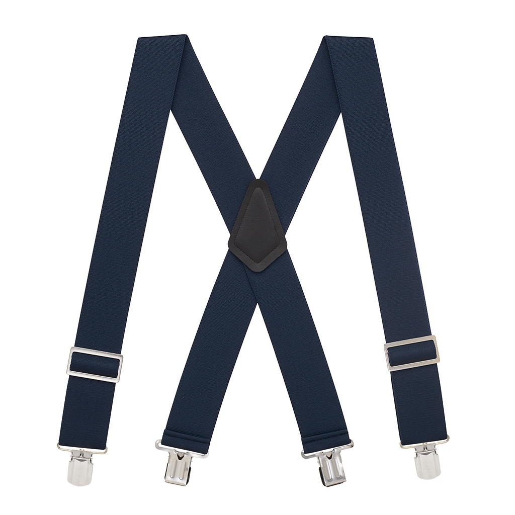 Pin Clip Suspenders in Navy - Full View