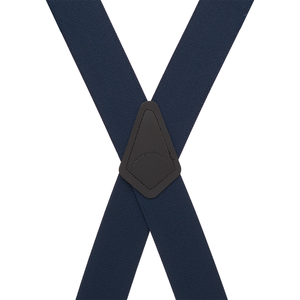 Pin Clip Suspenders in Navy - Rear View