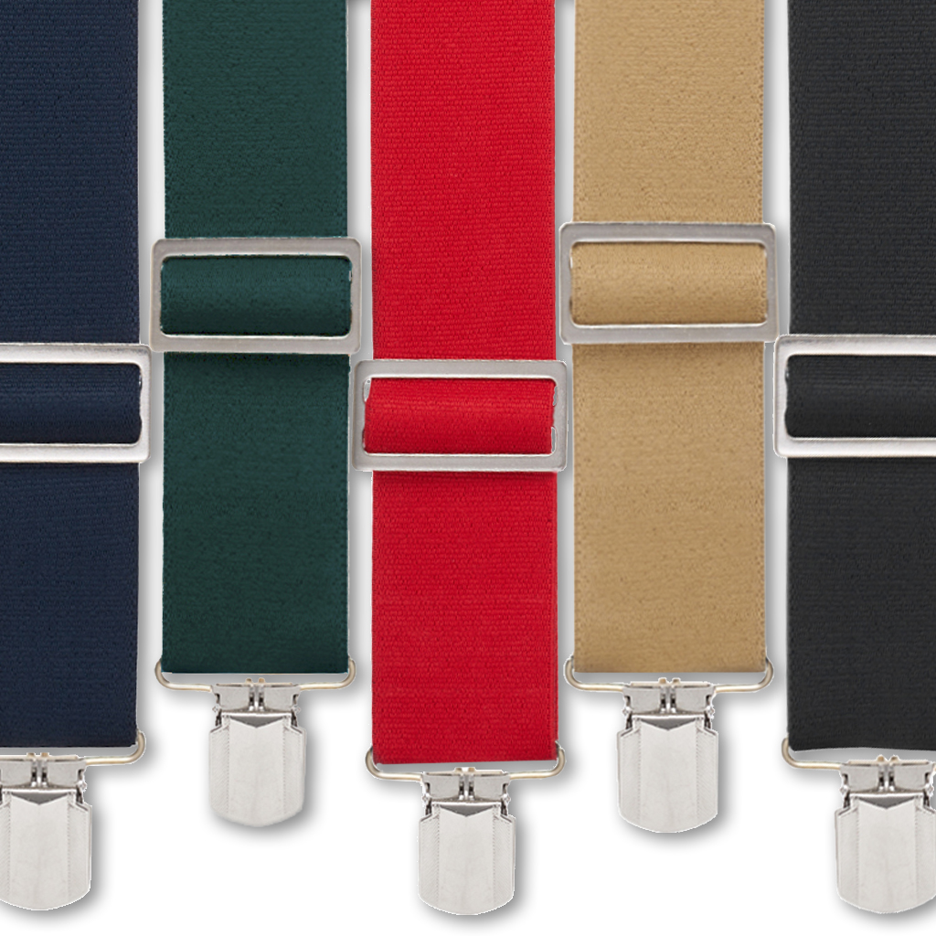 Big & Tall Logger Pin Clip Suspenders - All Colors