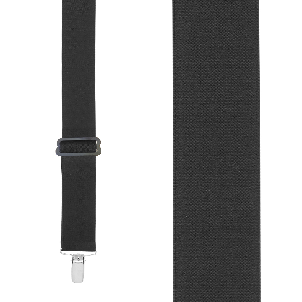 Undergarment Suspenders - BLACK - Nickel Clip