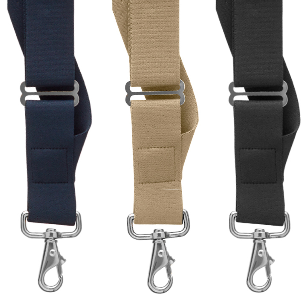 Side Clip Suspenders, 1.5-Inch Wide - Trigger Snap All Colors Front View